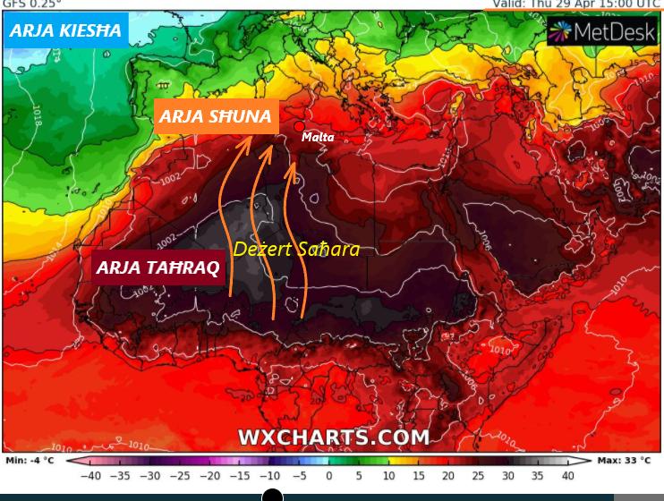 It-Temp Se Jisħon F'Daqqa – It-Temperatura Mistennija Titla' Sa 28°C