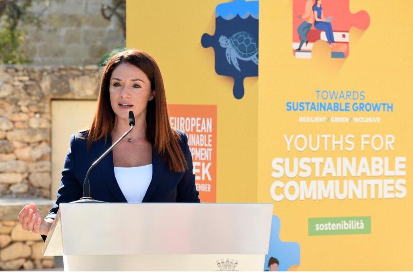 Il-Ministru Miriam Dalli Tħabbar Il-Ġimgħa Ewropea Għall-Iżvilupp Sostenibbli