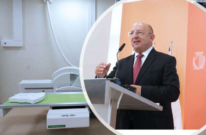 Il-Ministru Michael Farrugia Jinawgura L-Ewwel Dipartiment Diġitali Tal-X-Ray F'San Vinċenz De Paul